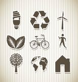 Ecology icons Royalty Free Stock Photos
