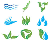 Ecology icons. Ecology and botanic icons for design use Royalty Free Stock Photos
