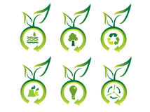 Ecology icons Royalty Free Stock Image