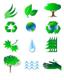 Ecology icons Royalty Free Stock Images