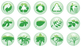 Ecology icons. Vector icon set for ecology Stock Images