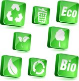 Ecology icons. Royalty Free Stock Photos