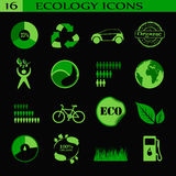 Ecology icons, emblem. Stock Photos