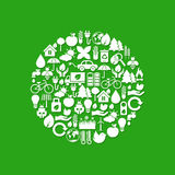 Ecology icons Stock Photography