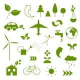 Ecology Icons Stock Photo