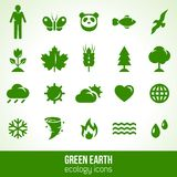 Ecology icons isolated on white. Vector Stock Photos