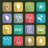 Ecology icons 04 Royalty Free Stock Photos