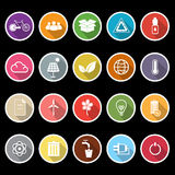 Ecology icons with long shadow Royalty Free Stock Image