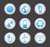 Ecology icons Royalty Free Stock Photo
