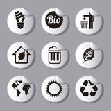 Ecology icons Stock Photography