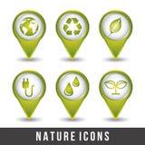 Ecology icons Stock Photos