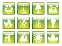 Ecology icons set 1 Royalty Free Stock Photos