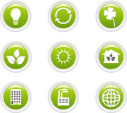 Ecology icons set Royalty Free Stock Photos
