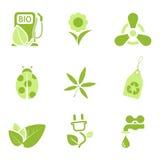 Ecology icons set 3 Stock Photo