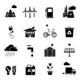 Ecology Icons Set Stock Photo
