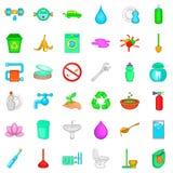 Ecology icons set, cartoon style. Ecology icons set. Cartoon style of 36 ecology vector icons for web isolated on white background Royalty Free Stock Image