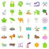 Ecology icons set, cartoon style. Ecology icons set. Cartoon style of 36 ecology vector icons for web isolated on white background Royalty Free Stock Photography