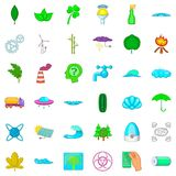 Ecology icons set, cartoon style Stock Photo