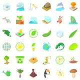 Ecology icons set, cartoon style Stock Images