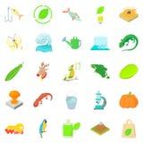Ecology icons set, cartoon style. Ecology icons set. Cartoon set of 25 ecology vector icons for web isolated on white background Stock Photo