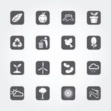 Ecology icons set of  create Royalty Free Stock Photography