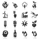 Ecology icons set. Stock Photography