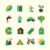 Ecology Icons Set Stock Image
