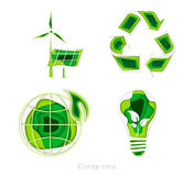 Ecology icons. set Stock Images