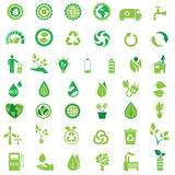 Ecology icons. Set, environment set Stock Images