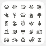 Ecology icons set Stock Image