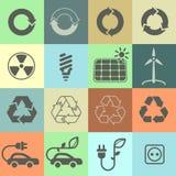Ecology icons. Set 02 Royalty Free Stock Images