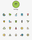 Ecology icons Stock Photo