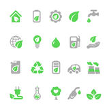 Ecology icons set, Green energy Royalty Free Stock Images