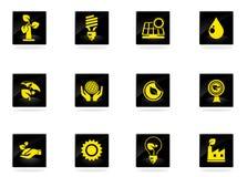 Ecology Icons set Royalty Free Stock Photo