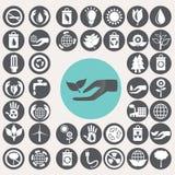 Ecology icons set. Stock Photos