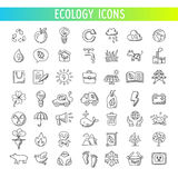 Ecology icons set. vector Royalty Free Stock Image