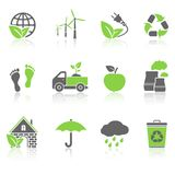 Ecology Icons Set. Vector illustration stock illustration