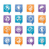 Ecology icons - Set for Web Applications Royalty Free Stock Photos