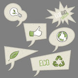 Ecology icons in speech bubbles. Stock Photo