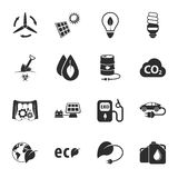 Ecology 16 icons universal set for web and mobile Stock Images