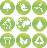 Ecology icons in vector Stock Photos