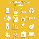 Ecology icons. Vector concept illustration for design Royalty Free Stock Images