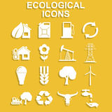 Ecology icons. Vector concept illustration for design Royalty Free Stock Photo
