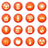 Ecology icons vector set Royalty Free Stock Image