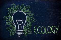 Ecology ideas & reneawable energy Royalty Free Stock Images