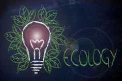 Ecology ideas & reneawable energy Royalty Free Stock Photo