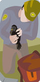 Ecology illustration series royalty free stock image