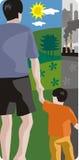 Ecology illustration series stock illustration