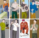 Ecology Illustration Set. A set of ecology and veterinary concept illustrations Stock Photography