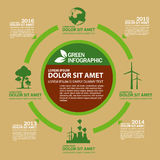 Ecology Infographic design template with graphic elements set illustration. Vector file in layers for easy editing. Royalty Free Stock Image